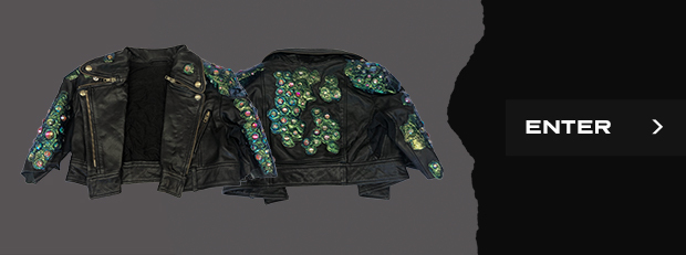 short-sleeved leather jacket